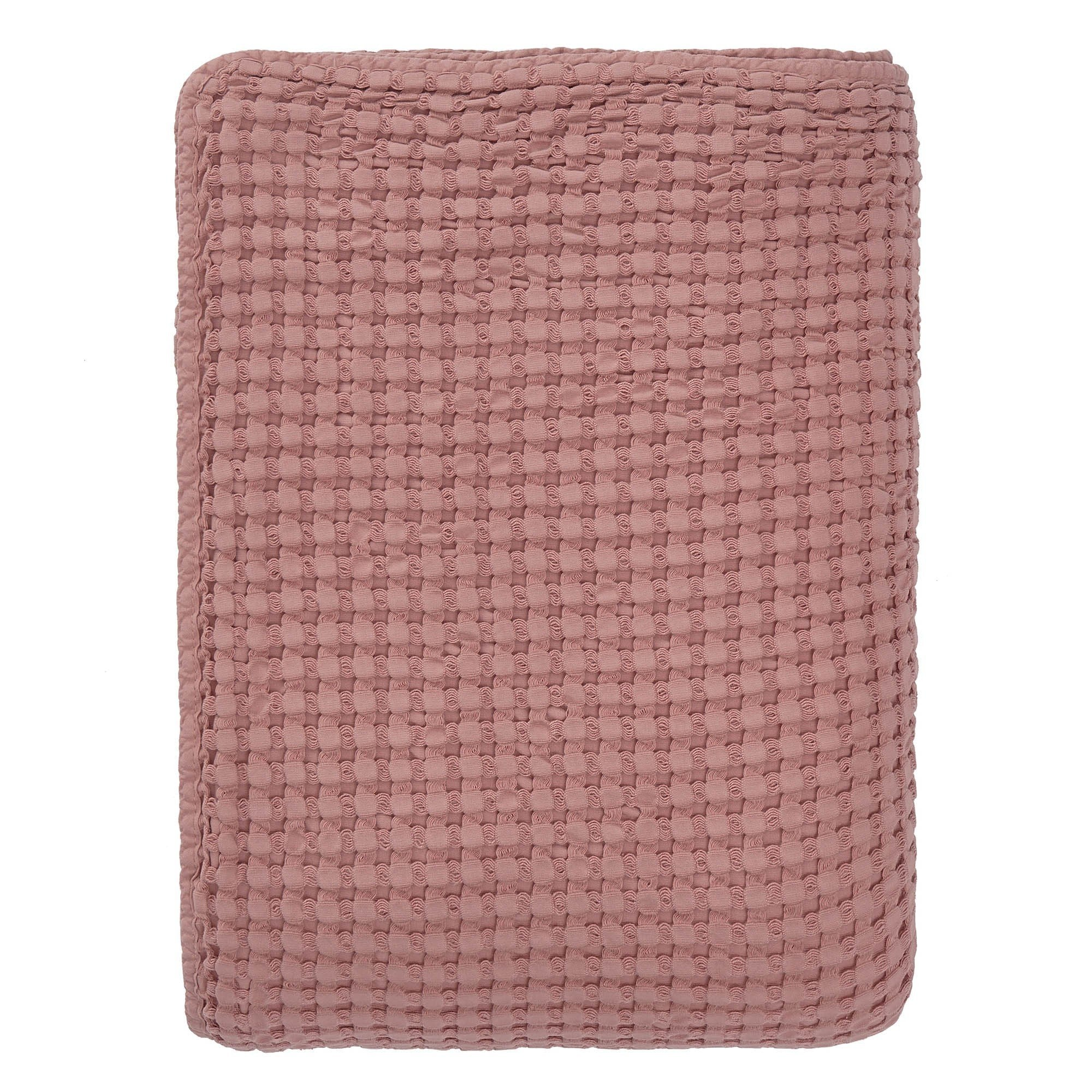 Veiros bedspread, dusty pink, 100% cotton