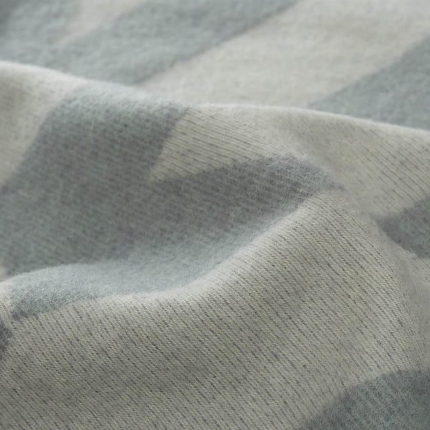 Farum blanket in grey blue & cream, 100% merino wool |Find the perfect wool blankets