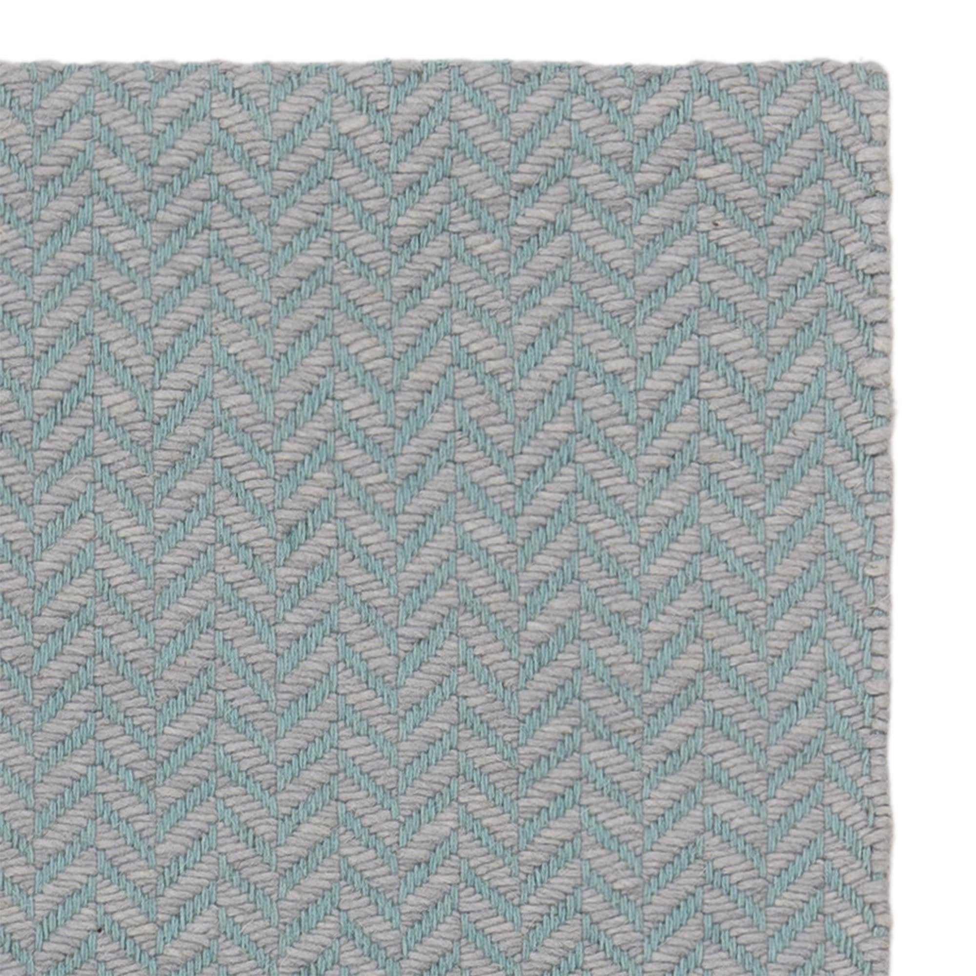 Kolvra rug, mint & light grey, 50% new wool & 50% cotton