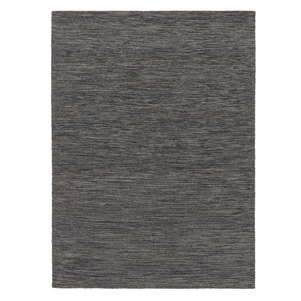 Gravlev rug, charcoal & off-white, 50% new wool & 50% cotton