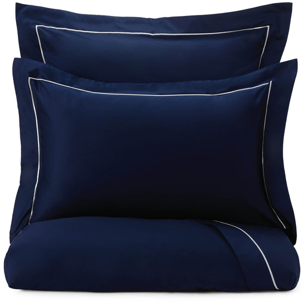 Karakol pillowcase, dark blue & off-white, 100% cotton