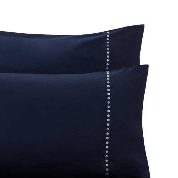 Dark blue & Blue & Light grey Mahina Bettdeckenbezug | Home & Living inspiration | URBANARA