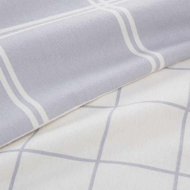 Brelade pillowcase, light grey & cream, 100% cotton |High quality homewares