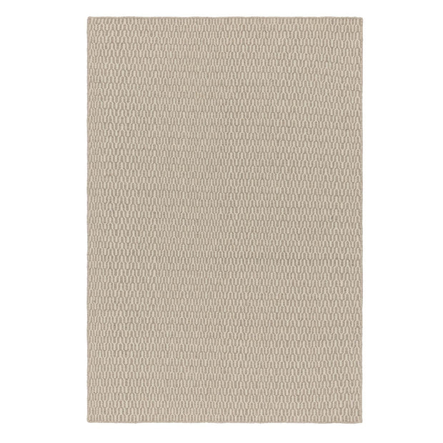 Overod rug, light grey & off-white, 100% new wool & 50% cotton | URBANARA wool rugs