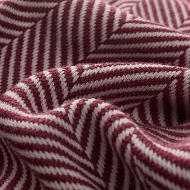 Salla blanket, bordeaux red & dusty pink, 100% new wool | URBANARA wool blankets
