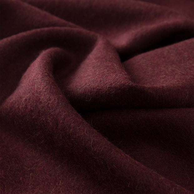 Limon scarf, bordeaux red, 100% baby alpaca wool |High quality homewares