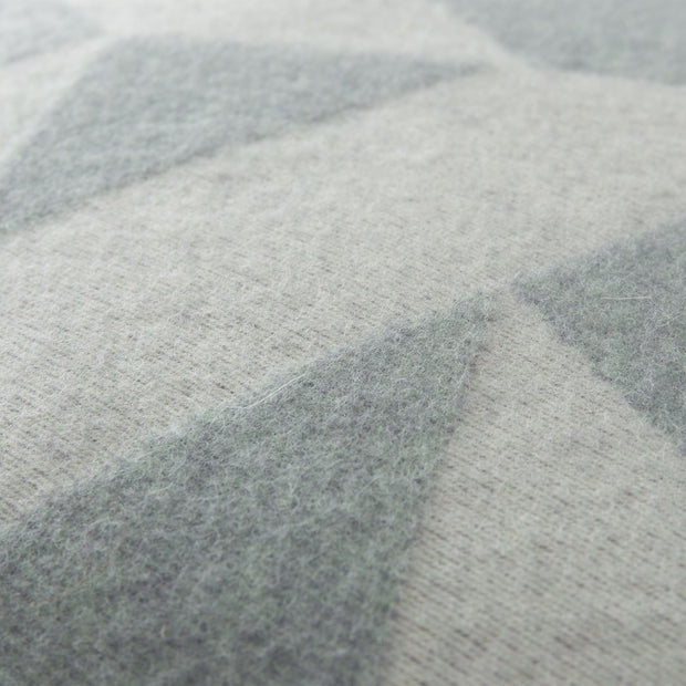 Farum cushion cover, grey blue & cream, 100% merino wool | URBANARA cushion covers