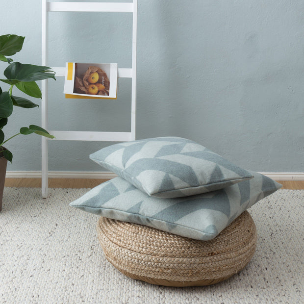Grey blue & Cream Farum Kissenhülle | Home & Living inspiration | URBANARA