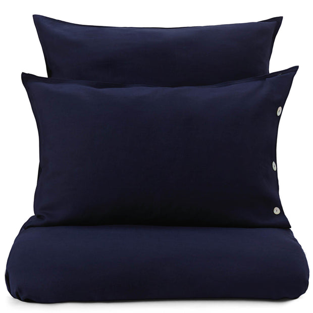Bellvis pillowcase, dark blue, 100% linen
