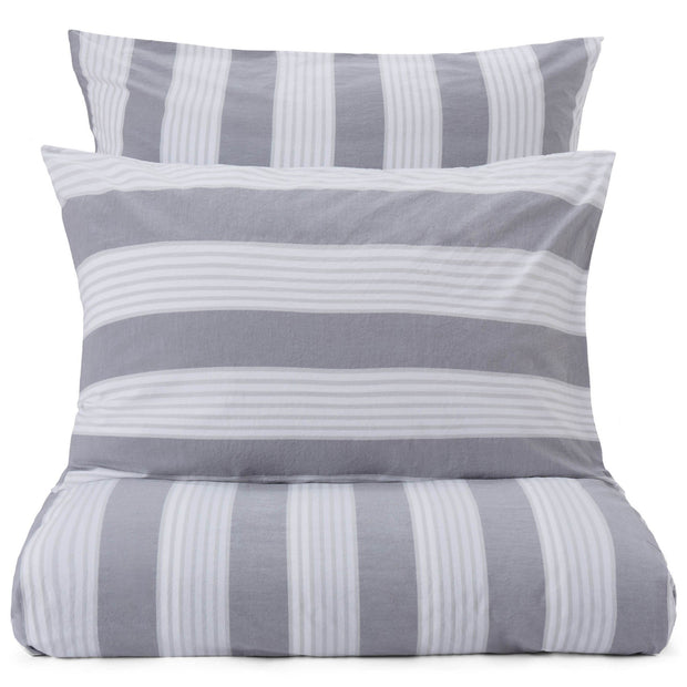 Beja pillowcase, grey & light grey & white, 100% cotton