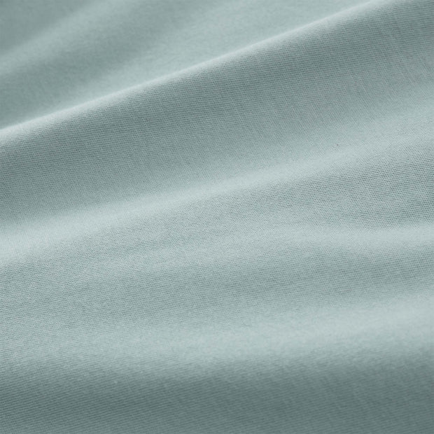 Samares pillowcase, green grey, 100% cotton | URBANARA jersey bedding