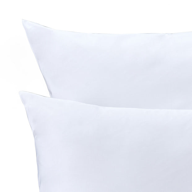 Millau duvet cover, white, 100% cotton | URBANARA sateen bedding
