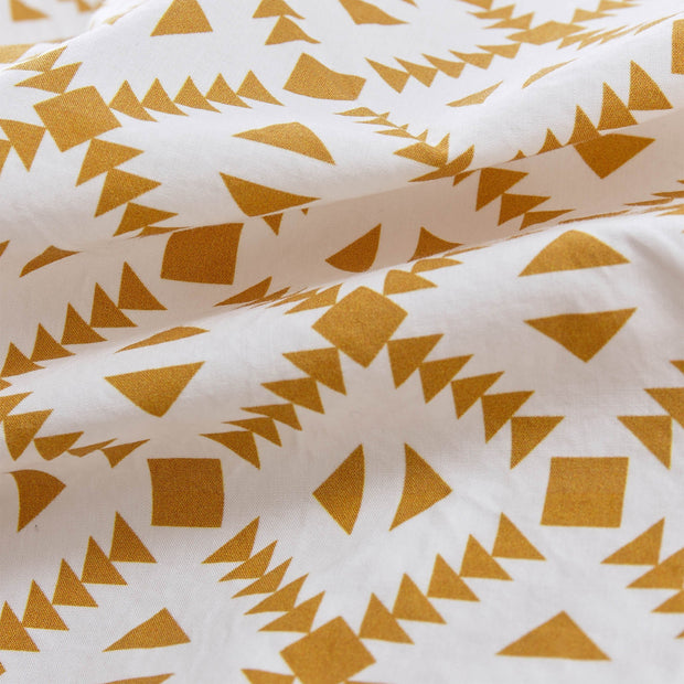 Arouca Pillowcase white & mustard, 100% cotton | High quality homewares