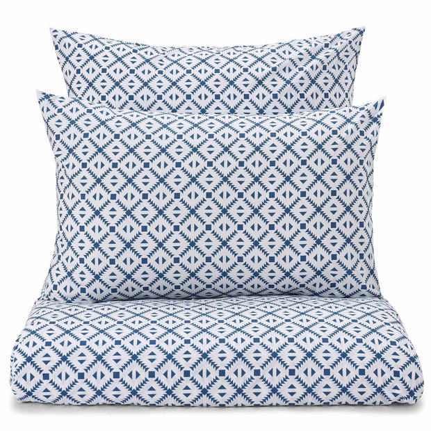 Arouca duvet cover, white & denim blue, 100% cotton
