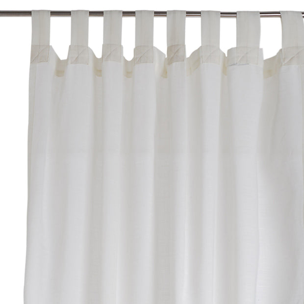 Helan curtain, natural white, 50% cotton & 50% polyester | URBANARA curtains
