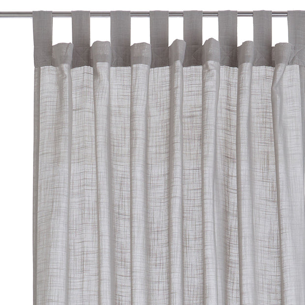 Helan curtain, light grey, 50% cotton & 50% polyester | URBANARA curtains