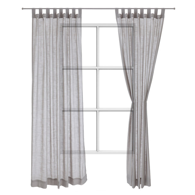 Helan curtain, light grey, 50% cotton & 50% polyester