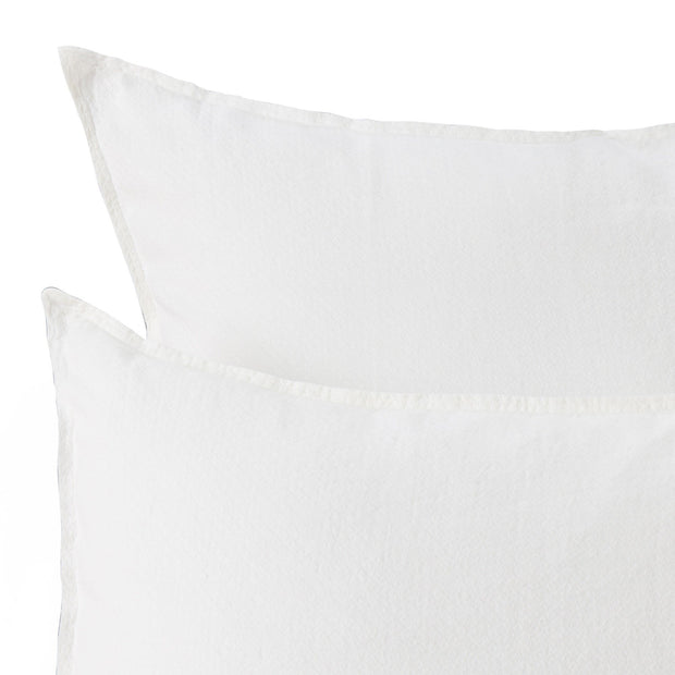 Lousa pillowcase, white, 100% linen | URBANARA linen bedding