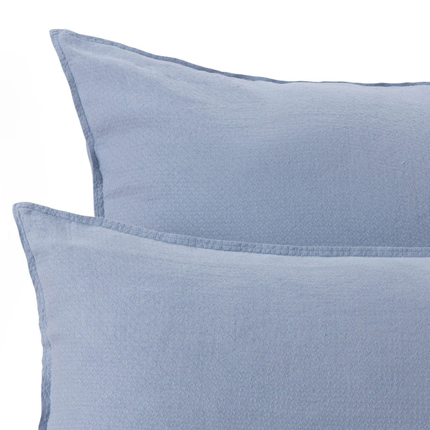 Lousa pillowcase, light grey blue, 100% linen | URBANARA linen bedding