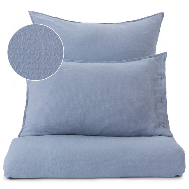 Lousa duvet cover, light grey blue, 100% linen