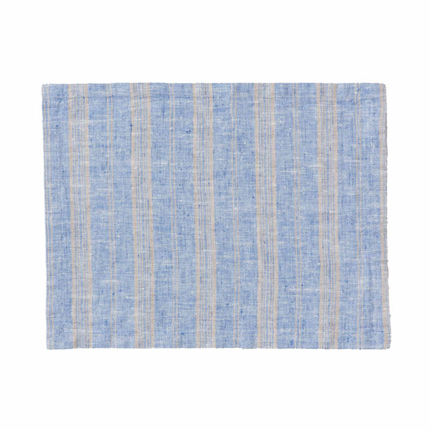 Lusis table cloth in light blue & natural, 100% linen |Find the perfect tablecloths