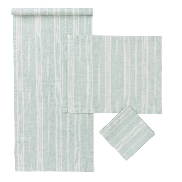 Lusis Table Runner [Mint/White]