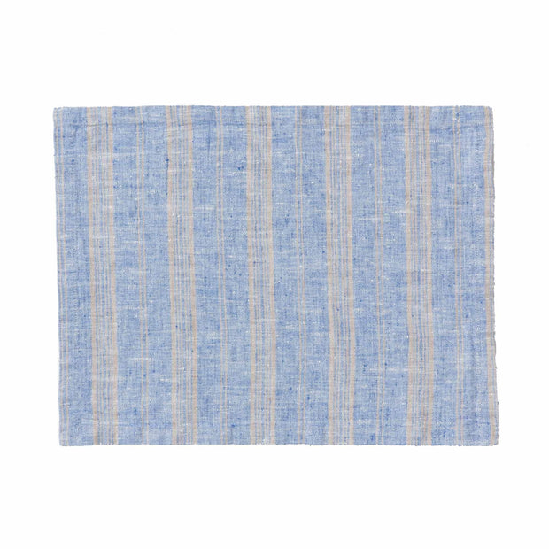 Lusis place mat, light blue & natural, 100% linen