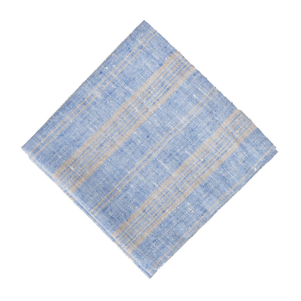 Lusis napkin, light blue & natural, 100% linen