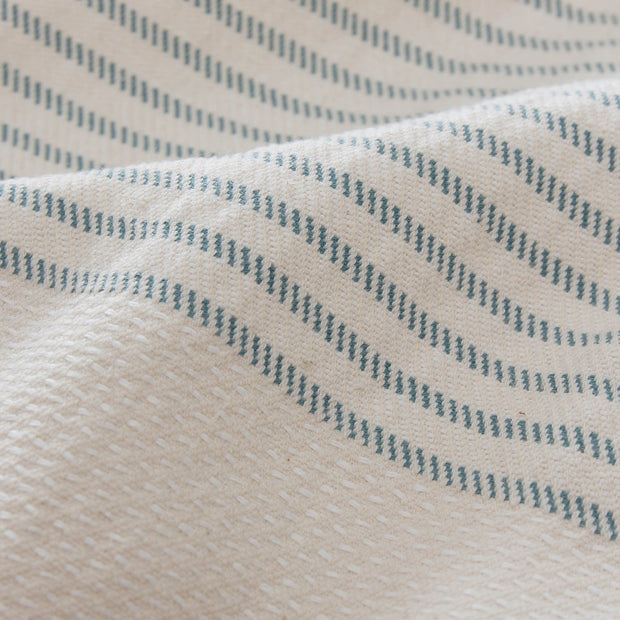 Kadan bedspread, grey green & cream, 50% linen & 50% cotton |High quality homewares