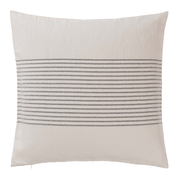 Kadan cushion cover, cream & black, 50% linen & 50% cotton