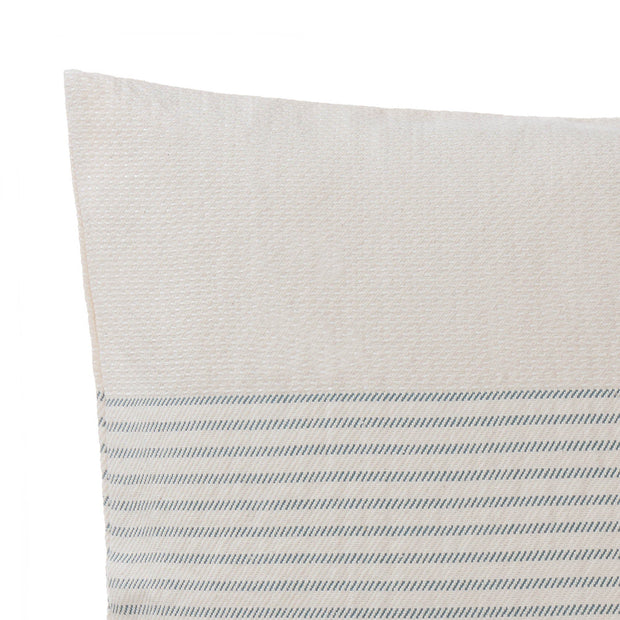 Kadan cushion cover, cream & grey green, 50% linen & 50% cotton |High quality homewares