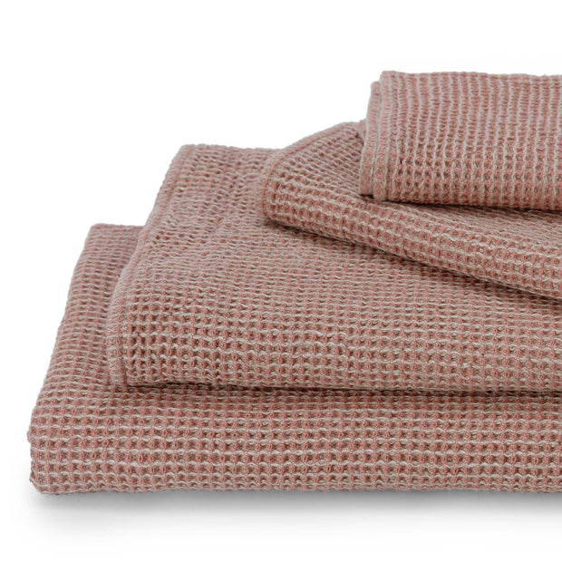 Kotra Towel Collection dusty pink & natural, 50% linen & 50% cotton | URBANARA linen towels