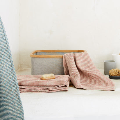 Kotra Towel Collection in dusty pink & natural | Home & Living inspiration | URBANARA