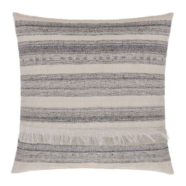 Bundi blanket, black & cream, 60% linen & 40% silk |High quality homewares
