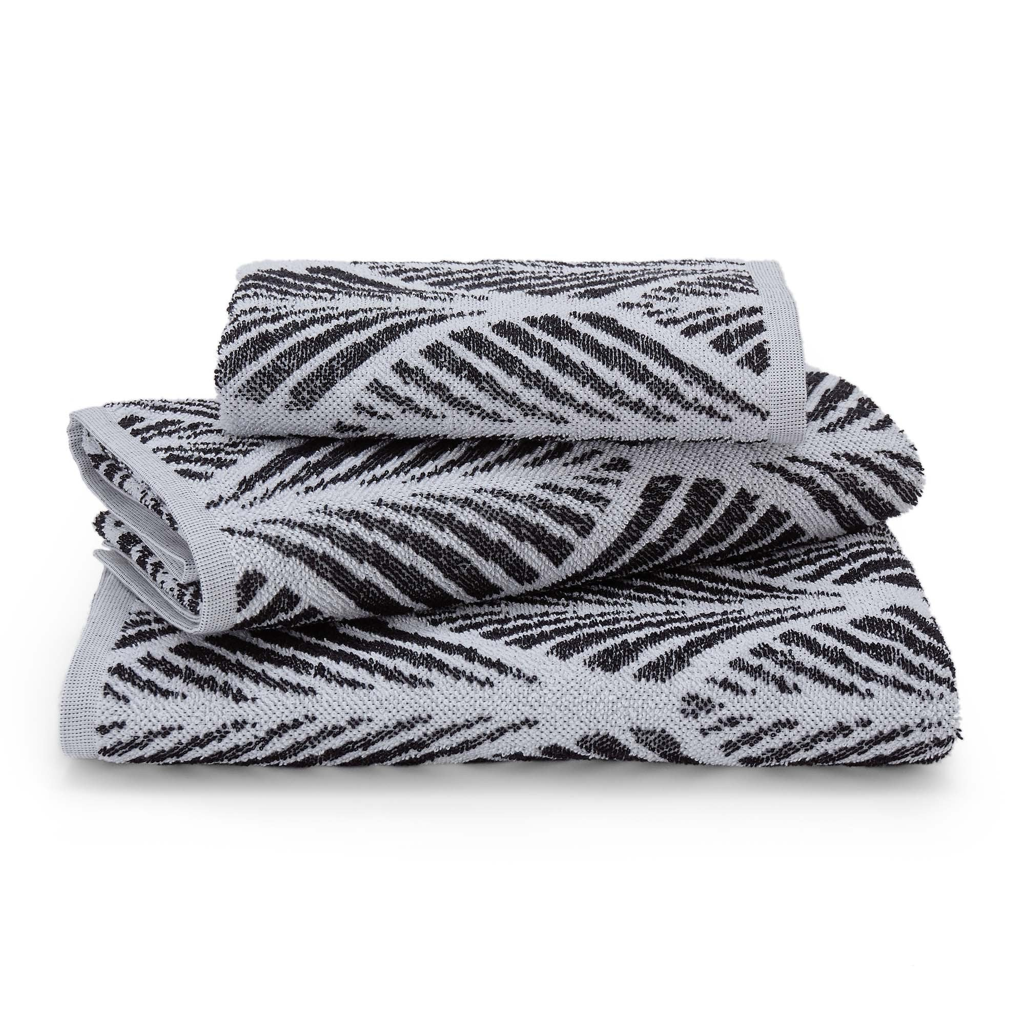 Coimbra hand towel, black & white, 100% cotton