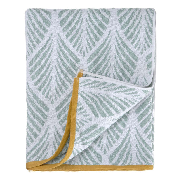 Coimbra beach towel, light grey green & white, 100% cotton | URBANARA beach towels