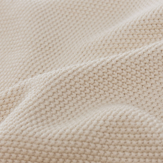 Antua blanket, cream, 100% cotton |High quality homewares
