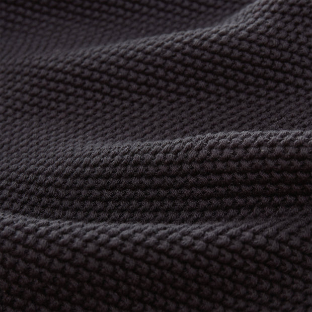 Antua Cotton Blanket charcoal, 100% cotton | High quality homewares