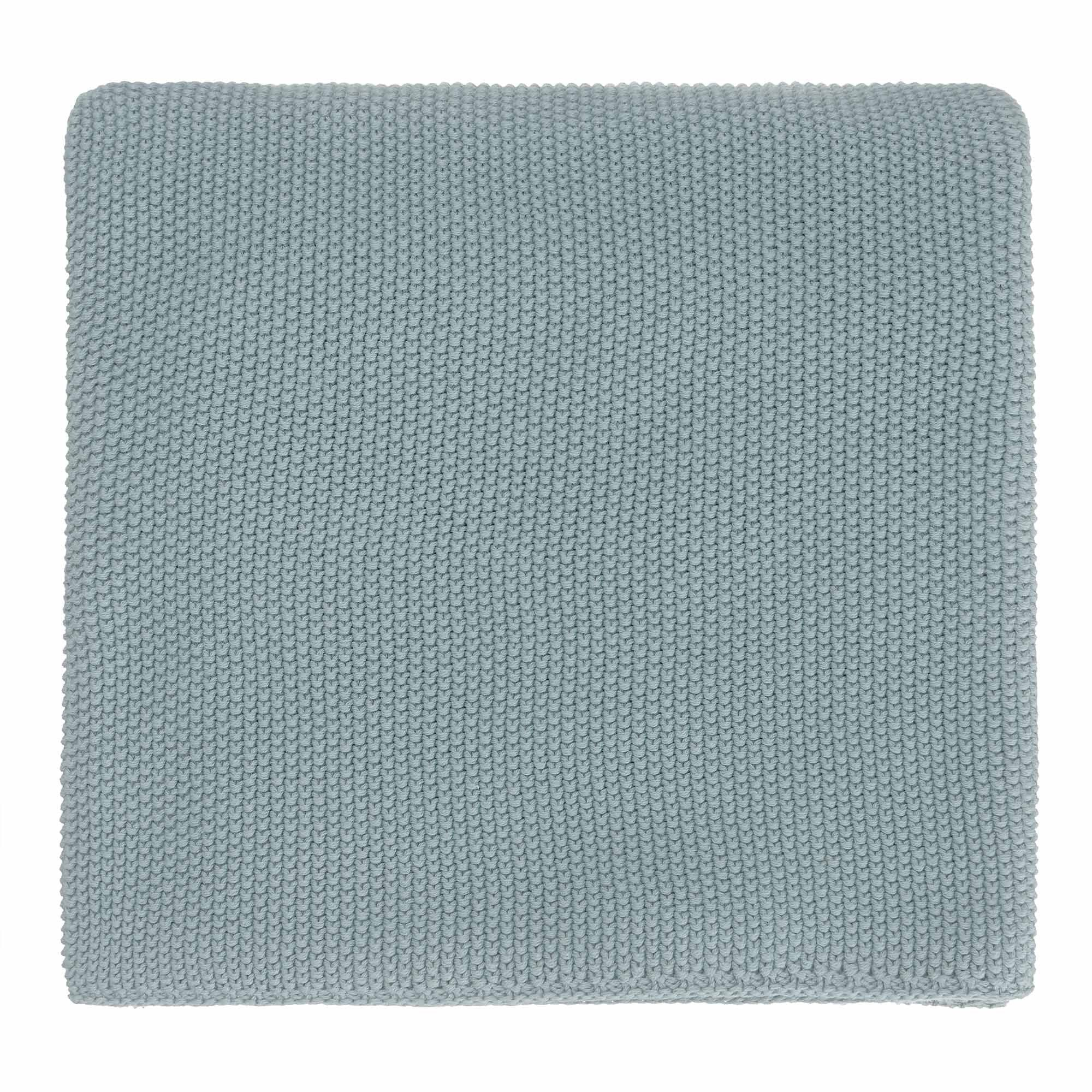 Antua blanket, green grey, 100% cotton