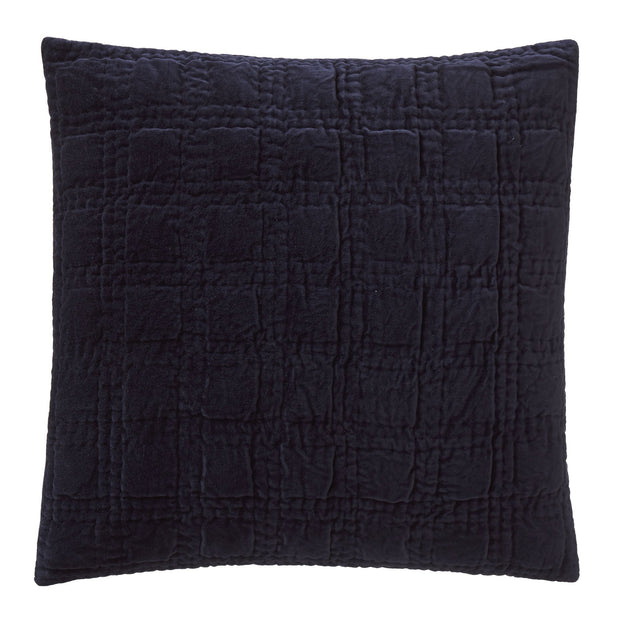 Samana cushion cover, dark blue, 100% cotton