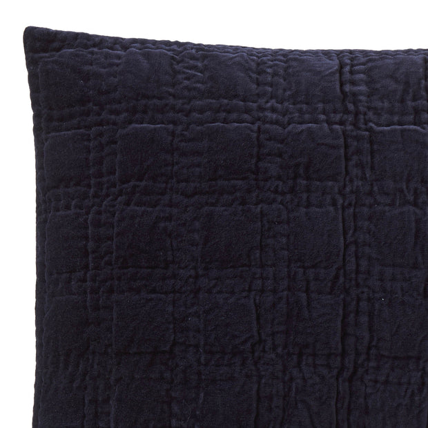 Samana cushion cover, dark blue, 100% cotton | URBANARA cushion covers