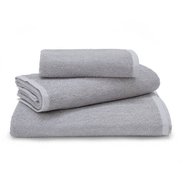 Ventosa hand towel, grey & white, 100% organic cotton