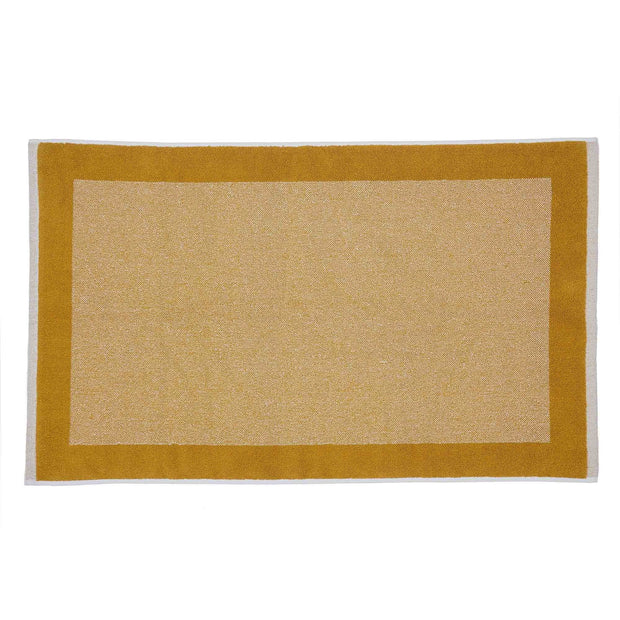Ventosa bath mat, mustard & white, 100% organic cotton
