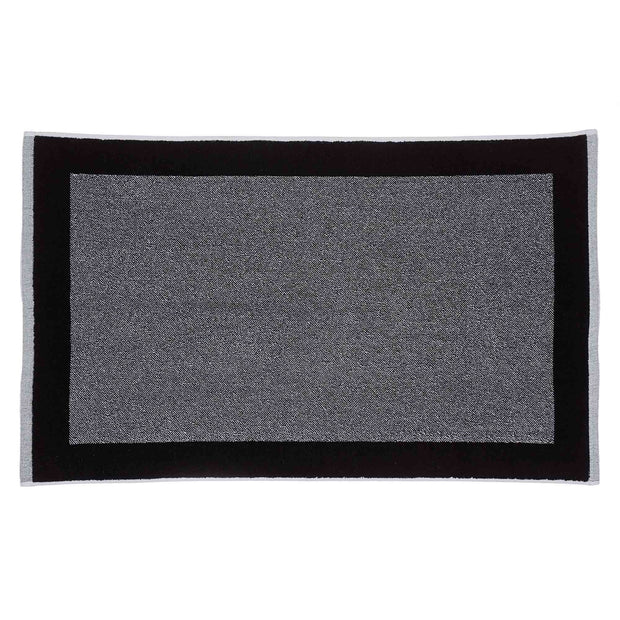 Ventosa bath mat, black & white, 100% organic cotton