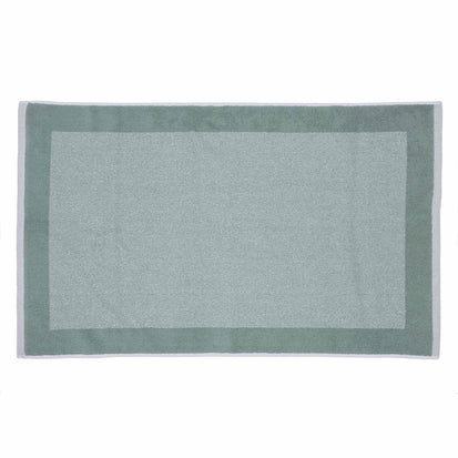 Ventosa bath mat, light grey green & white, 100% organic cotton