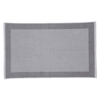 Ventosa bath mat, grey & white, 100% organic cotton