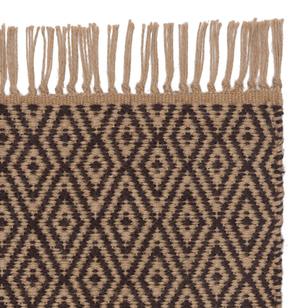 Dasheri rug, charcoal & natural, 100% jute
