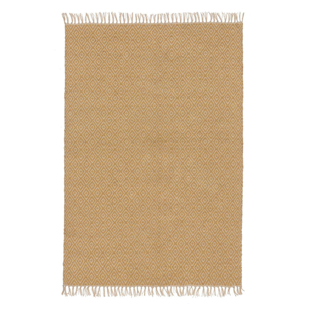 Dasheri rug in mustard & cream, 100% jute |Find the perfect jute rugs