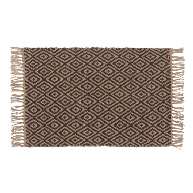 Dasheri doormat, charcoal & natural, 100% jute