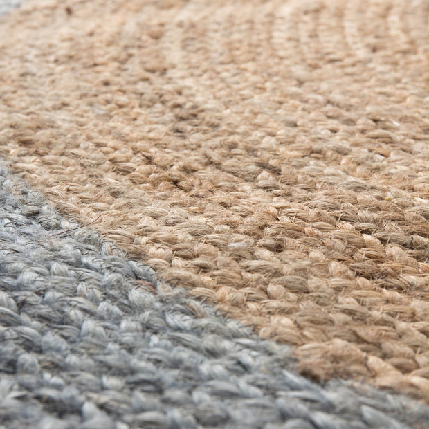 Nandi rug in natural & light grey blue, 100% jute |Find the perfect jute rugs